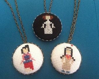 Princess Leia Necklace, Star Wars, Minimalistic
