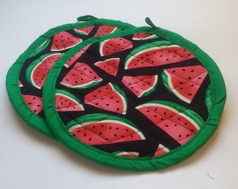 Watermelon Potholders/Hotpads