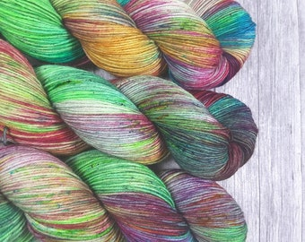 01 Solo dancer-Maia, 100% merino Superwash-400 m/100g-hand dyed yarn