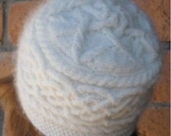 KNITTING PATTERN: Celtic Star Cable Women's Hat Digital File