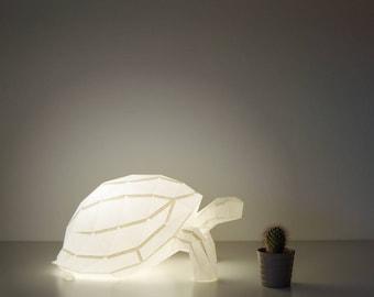 Tortoise - DIY Paperlamp ( pre-cut papercraft kit, DIY paper lamp )