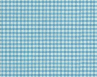 Pond Blue Gingham Checks Plaid Fabric by Carolina Gingham for Robert Kaufman Fabric