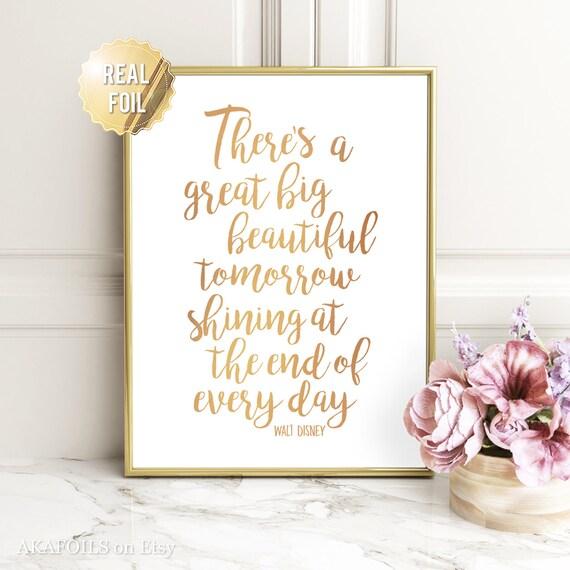 Disney Quote Wall Art Walt Prints Gold Foil