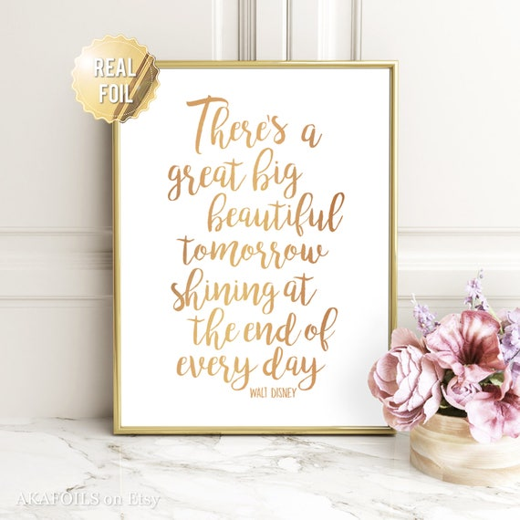 sc 1 st  Etsy & Disney Quote Wall Art Walt Disney Quote Prints Gold Foil