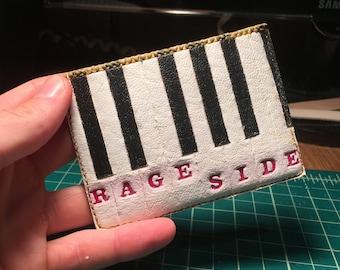 Handmade Leather Cardholder Wallet - Rage Side - Phish