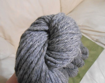 Grey  - Wool / Nylon blend- 661 yards - Aran weight - Recycled, Reclaimed, Upcycled
