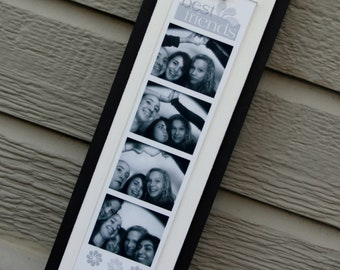 """Photo Booth Picture Frame - Holds a 2"""" x 8.5"""" Photo Booth Picture Strip - Black & White"""