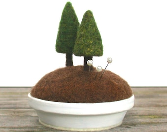 Evergreen Trees Sculpture, Woodland Decor, Tree Sculpture , Woodland Trees, Fiber Art, Fir Trees, Pine Trees, Nature Scene Made to Order