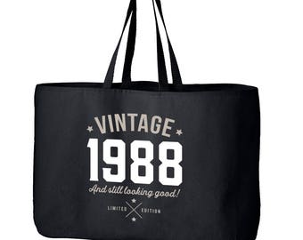 30th Birthday, 30th Birthday Idea, Great 30th Birthday Present, 30th Birthday Gift 1988 Birthday, 30th Birthday Bag, Tote, Shopping Bag
