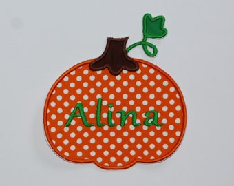 Personalized Embroidered Iron On Applique-Pumpkin