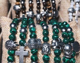 Malachite anglers bracelets. Angles Bracelets Malachite