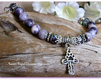 Pet Rescue:  Mission for God Bracelet; Pet Rescue Jewelry; Dog and Cat Rescue; Pet Shelter Volunteer Gifts; Peace Love Pet Rescue