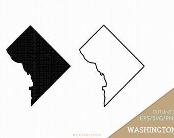 Washington D.C. Vector, Washington Clipart, DC Clip Art, Washington District of Columbia SVG, State PNG  (Design 13762)