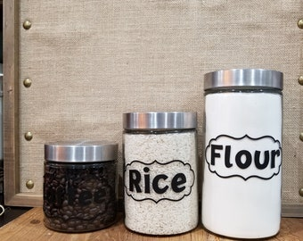 Custom Kitchen Canisters