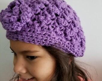 Handmade crochet beanie delg
