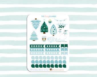 December Themed Monthly Sticker Set | Erin Condren Vertical Planners