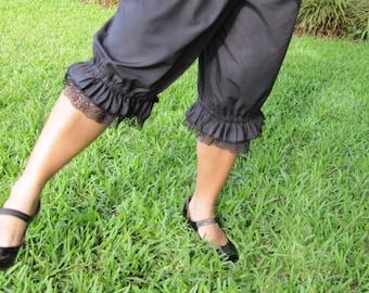 Black Knee Length Womens Bloomers