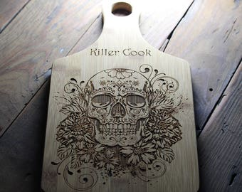 Personalized Skull Cutting Board, Gift For Newlyweds, Gift For Couple,  Anniversary Gift,