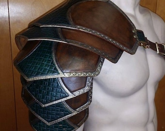 Leather Armor Ornate Sentinel 2 six piece segmented shoulder