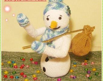Bye bye - Snowman - Crochet pattern