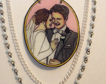 Breaking Dawn Necklace ~ Twilight ~ Vampires ~ Lovers ~ Sparkle ~ Pretty ~ Shrink Plastic ~ Deadly Dinks ~ Weddings ~ Jewelry ~ Cullens