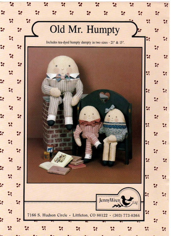 Old Mr. Humpty Dumpty Sewing Pattern from crittercountry on Etsy Studio