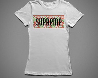 SUPREME, T-shirt with individual design, 100% cotton, for woman