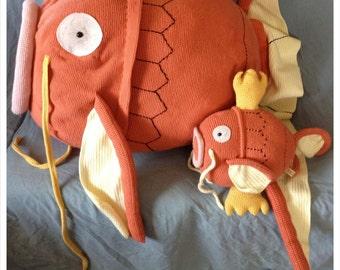 Pokemon Magikarp Pattern - Gold Magikarp - Life-Size - Crochet Gifts - Gyarados - Team Cosplay - Valor - Mystic - Instinct