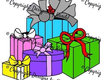 Christmas Gifts SVG Christmas Packages Svg Gifts SVG File Digital cut file- Instant Download