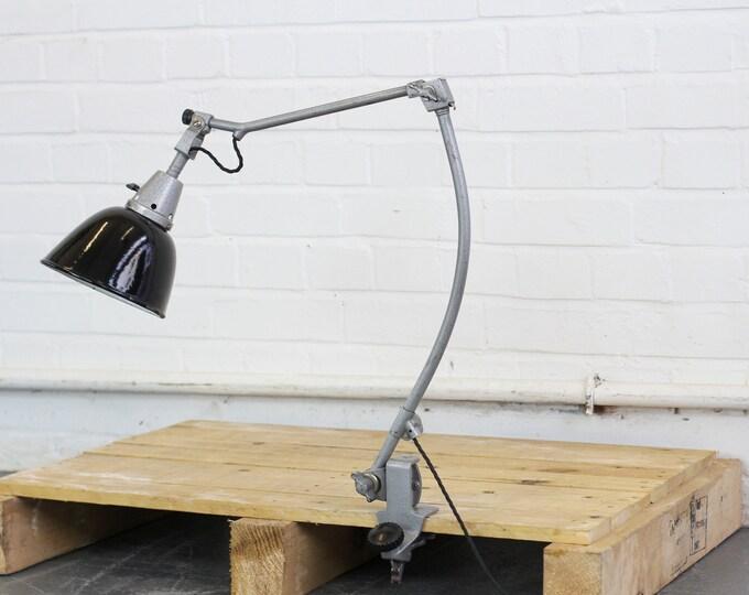 Clamp On Midgard Lamp By Curt Fischer Circa 1940s