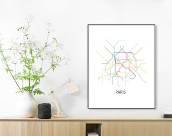 paris subway map print paris metro map posterparis printparis metro map