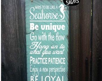 seahorse decor, seahorse decoration, seahorse sign, be like a seahorse, seahorse wall decor, advice from seahorses, 78/174