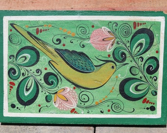 1970's Vintage Mexican Hand Painted Art
