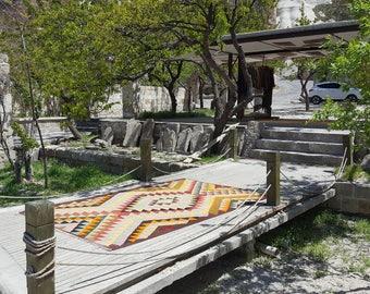 Anatolian Handmade Kilim 100% Wool 64'' x 108'' Handwoven Decorative Kilim Rug