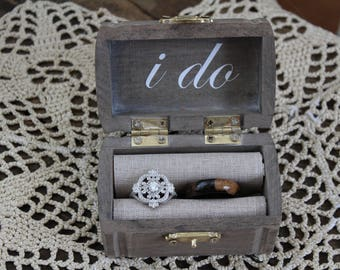 Ring Bearer Box/ Vintage Ring Bearer Box/ Custom Ring Bearer Box