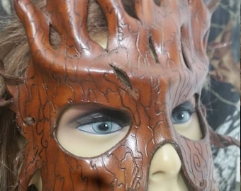 leather bark mask /face mask/tree grain mask.