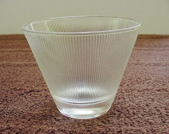 Ribbed Frosted Stemless Martini Glasses Set of 4 Vintage