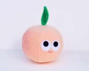 Peach - Plush Food - Georgia Peach - Play Food - Pretend Play - Plush Peach - Stuffed Peach