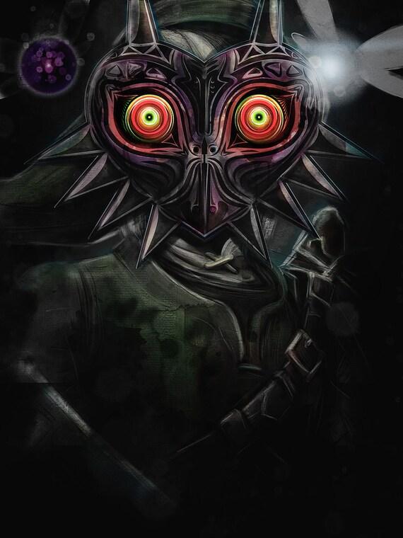 Legend Of Zelda Majora S Mask Link Painting Signed