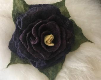 Rose Brooch Rose Jewelry Felted Flower Brooch Felted Rose Felt Brooch Wool Flower Gift for Her