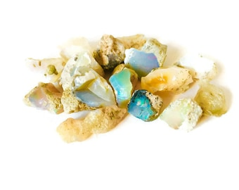 SALE Raw Fire Opals, Rough Opals Mixed Beautiful Rainbow Opal Gemstones Crystals, Indian Ethiopian Australian