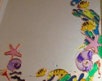 Painted mirror, underwater world