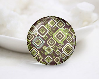 Round Glass Photo Cabochons Photo Glass Cabs-Tiling (P3220)