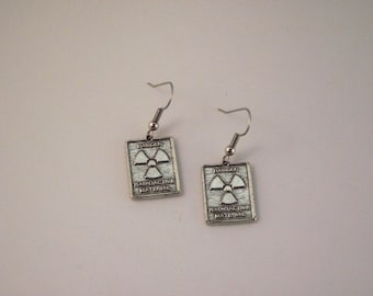 Gorgeous Geekery Radioactive Symbol Earrings - Physics, Chemistry, Science, Laboratory