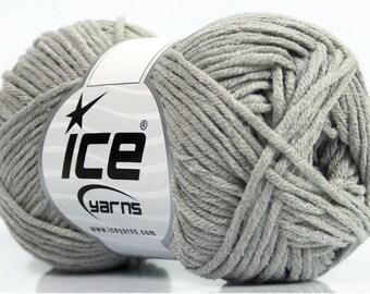 WOOL ICE MOJITO (60% COTTON) 50G FINGERING GRAY 5 / / 57