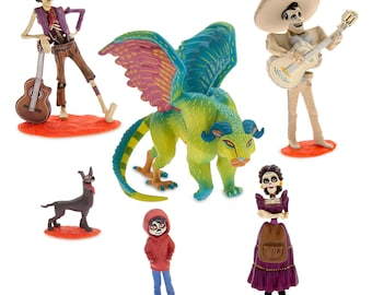 Day of the Dead CAKE TOPPER PVC Figure Set - Birthday Party Cupcakes Figurines