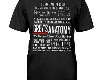 Greys anatomy quotes t-shirt, grey's anatomy, greys anatomy gifts, grey's anatomy t shirt, youre my person tshirt, greys anatomy shirt