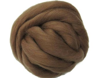 New! 21.5mic Merino Wool Roving , Color: Raw sienna
