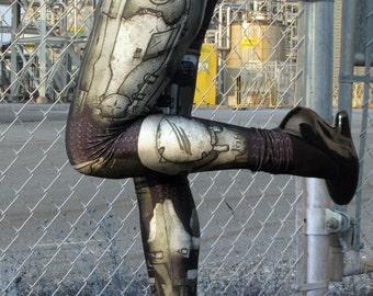 TAFI Halo Spartan Leggings - Sci-Fi Body Armor Video Game-inspired Costume Yoga Pants Black Milk Galaxy CosPlay Print