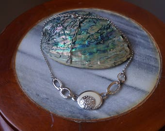Beautiful Swarovski necklace with crystals and enamel.